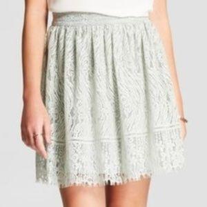 Xhilaration Women's Skirt Mint Green A-Line NWT